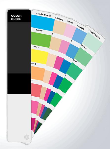 cmyk kleurenwaaier